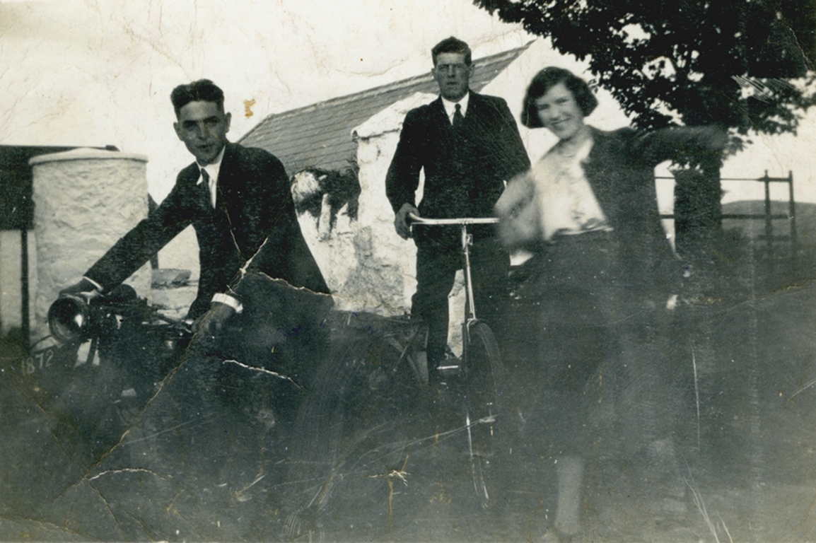 McCourt // County Louth :: Frances (Fanny) Rowe   (later married to Tommy McCourt) with then boyfriend Edward Flynn with friend on an outing in Kilcurry near the border on the road to Forkhill, County Armagh
