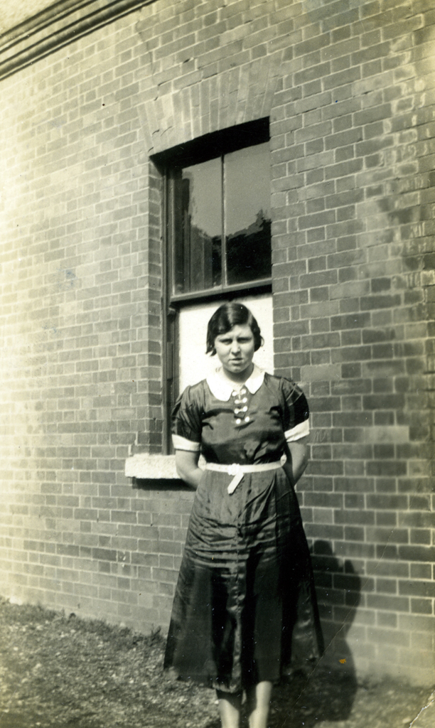 McCourt // County Louth :: Mollie Rowe, orphan daughter of Albert Rowe outside the Royal Drummond Orphanage in Bray, County WIcklow