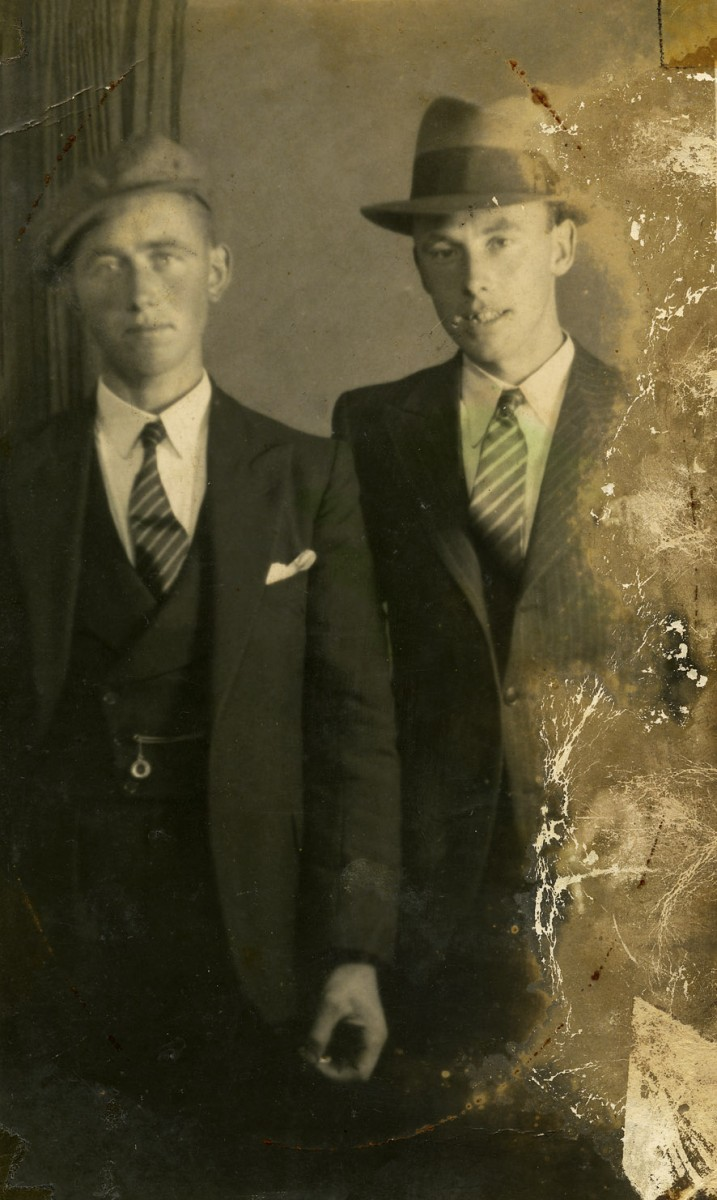 McGing // County Meath :: Studio portrait of Austin McGing and his cousin