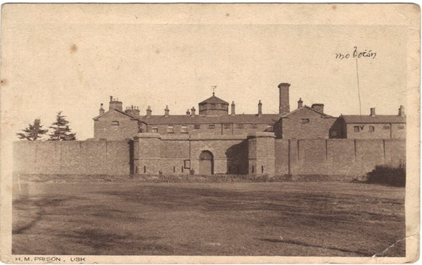 O'Donovan // County Cork :: Postcard from Usk prison, annotated