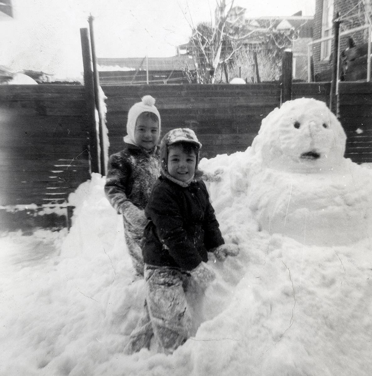 Conlon // County Monaghan :: Seán and Kevin Conlon in the Snow, 1964