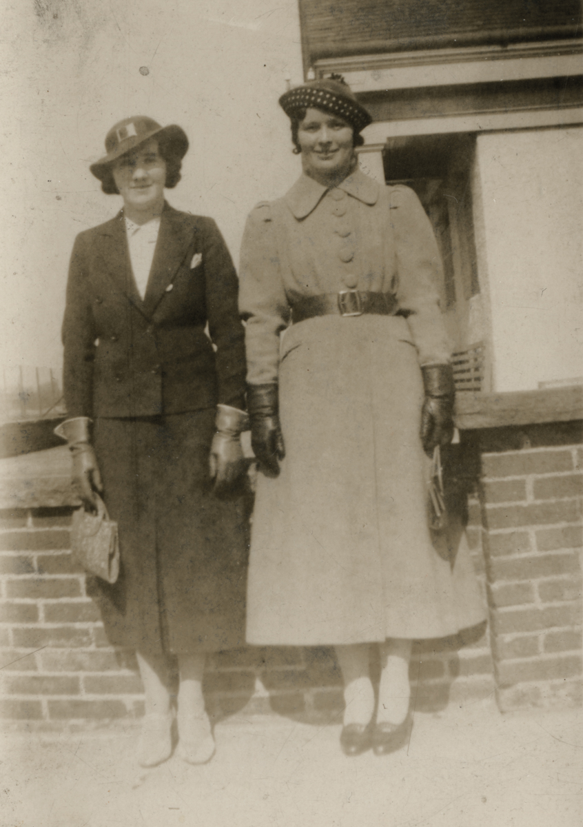 Clerkin // County Monaghan :: Eva Clerkin and a friend pre-WW2