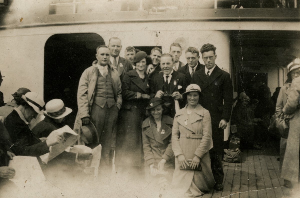Clerkin // County Monaghan :: A group on a ship to/from England