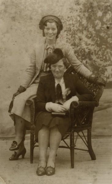 Eva Clerkin and a friend