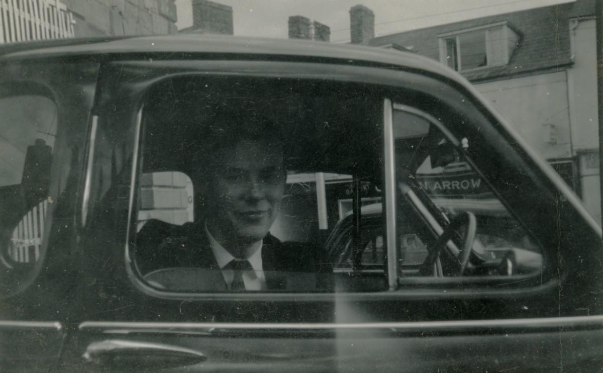 Clerkin // County Monaghan :: Man in an Austin Somerset car