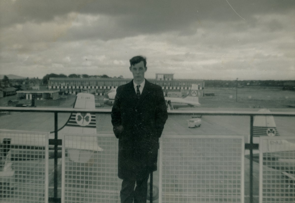 Clerkin // County Monaghan :: Man at Dublin Airport viewing deck