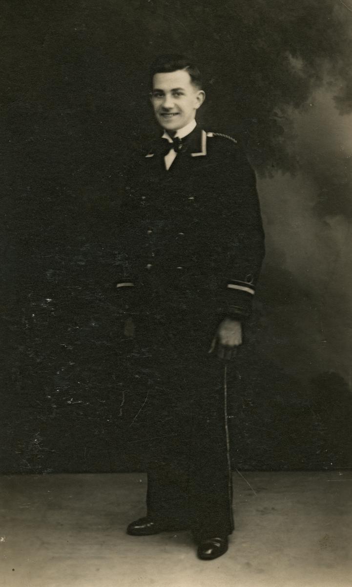 Clerkin // County Monaghan :: Studio portrait of young man in uniform