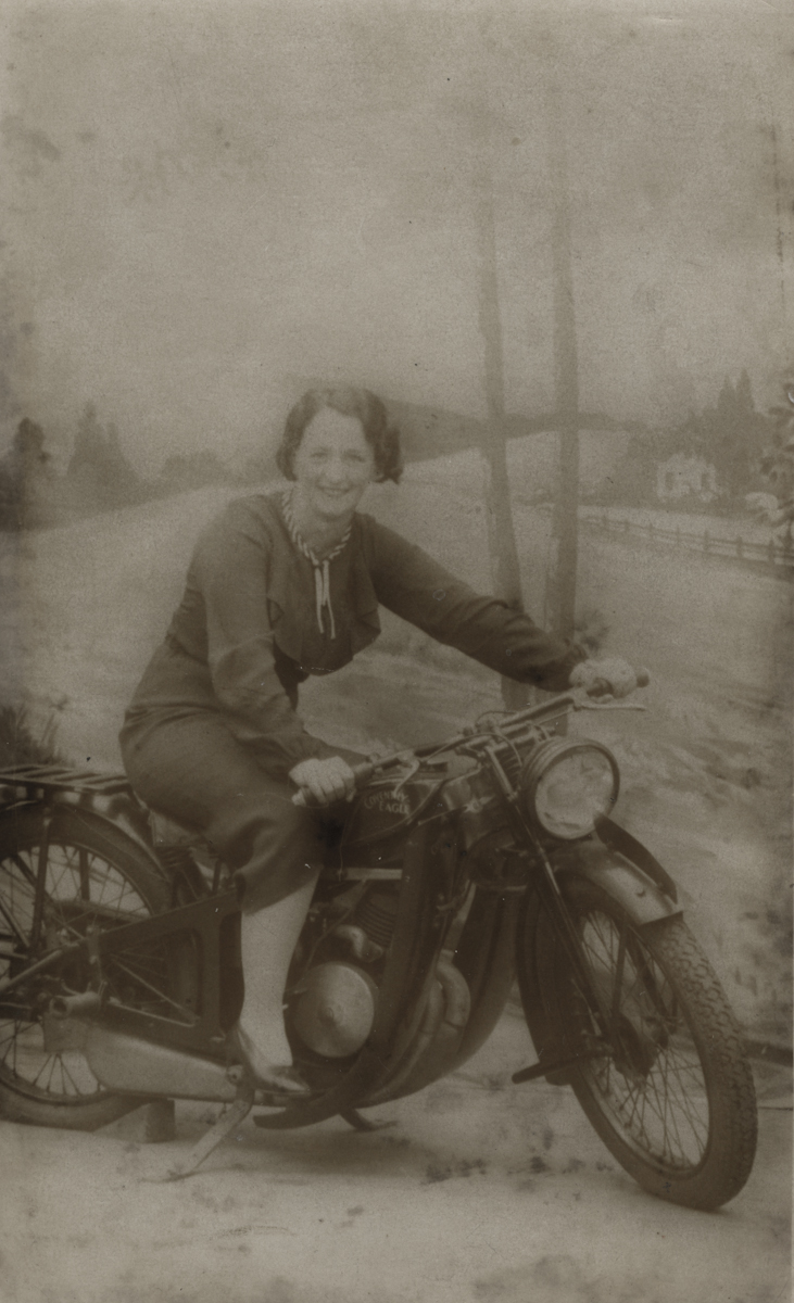 Clerkin // County Monaghan :: Woman posing on motorbike
