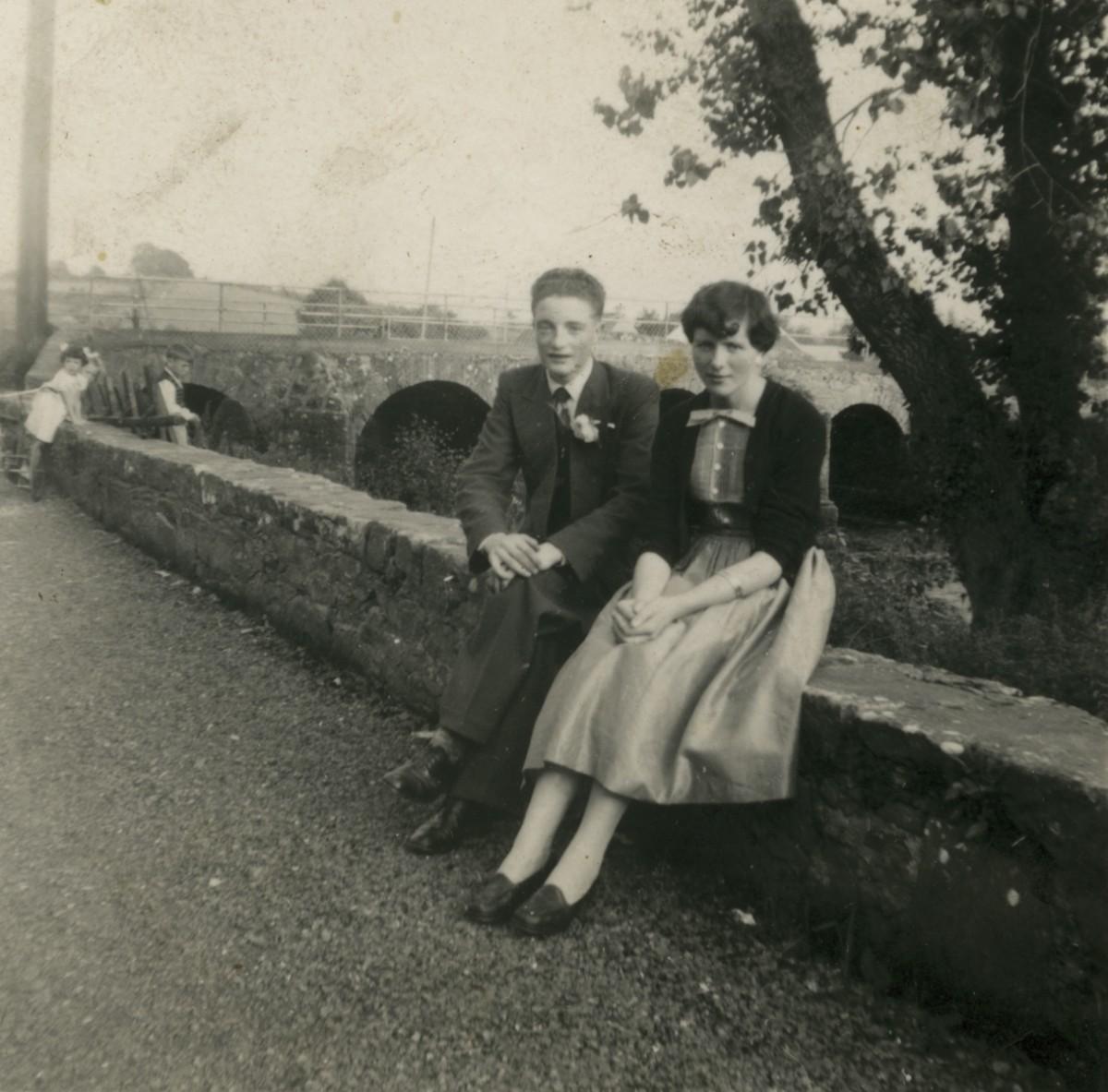 Clerkin // County Monaghan :: Fields and Sherlock at Emyvale Bridge, Monaghan