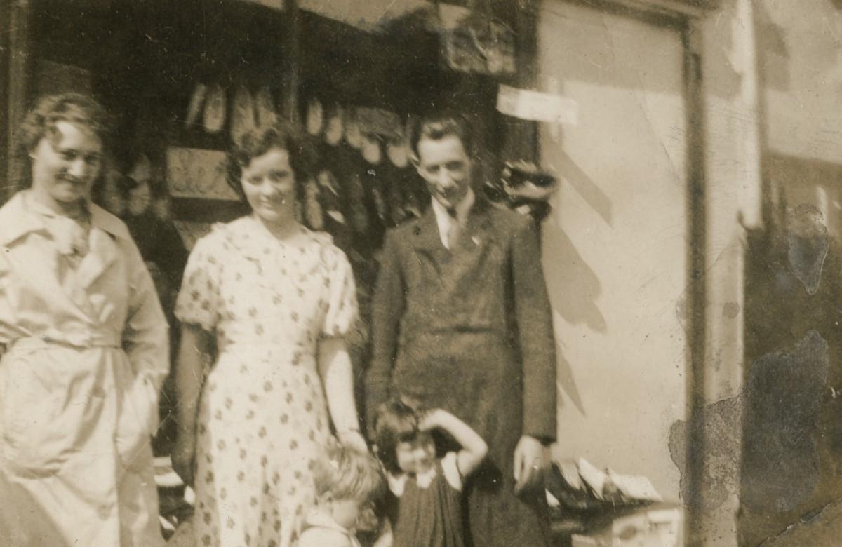 Clerkin // County Monaghan :: Group outside shoeshop