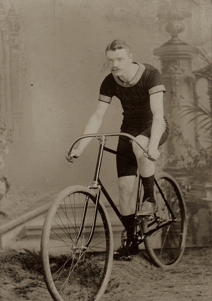 Johnston // County Louth :: Man on a bicycle