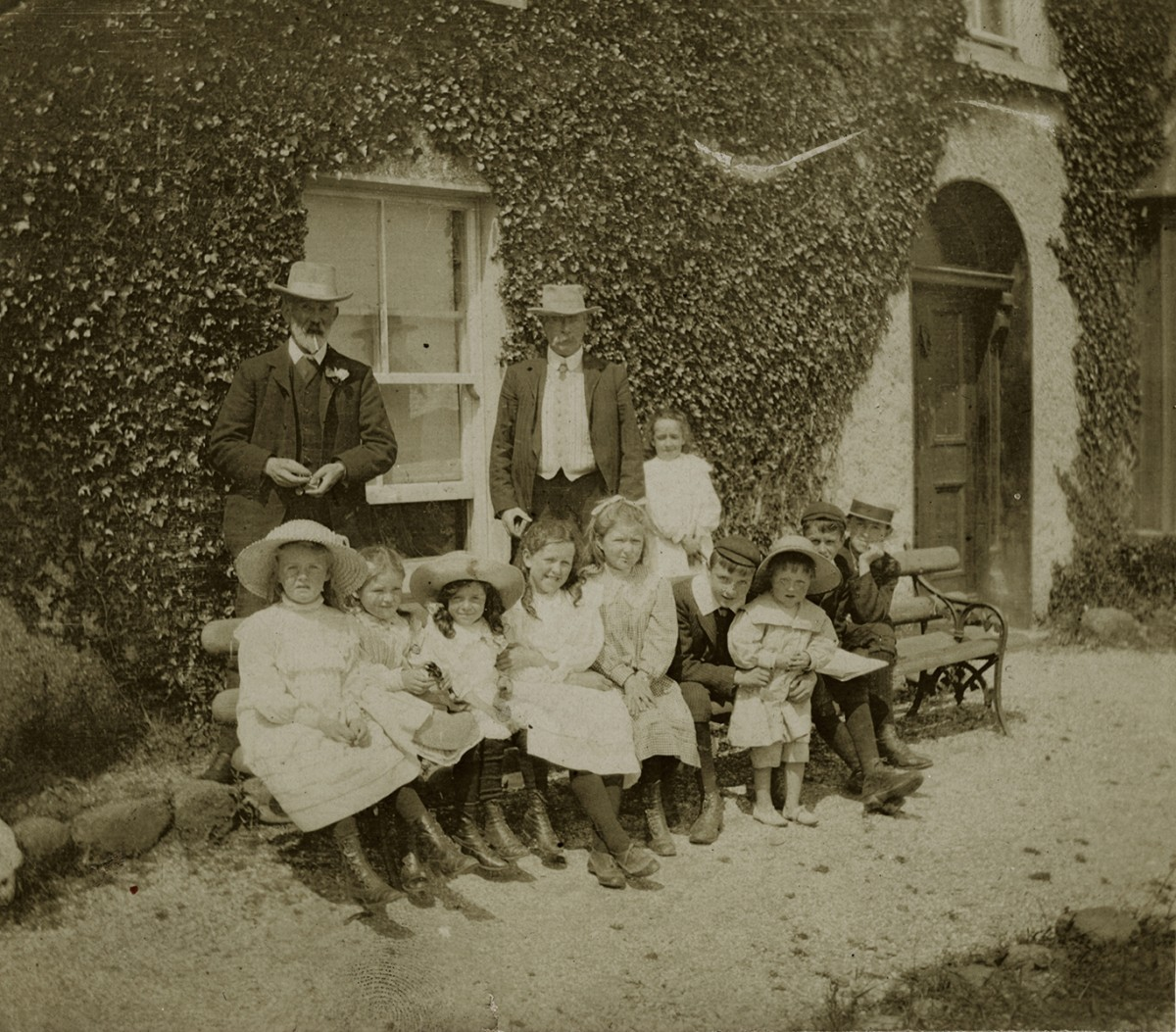 Johnston // County Louth :: Johnston family, outside the summer home in Blackrock, Co.Louth