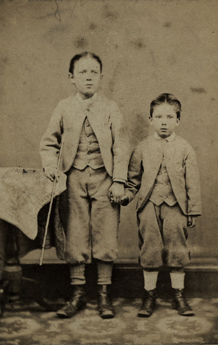 Johnston // County Louth :: Two boys in Studio, 1872
