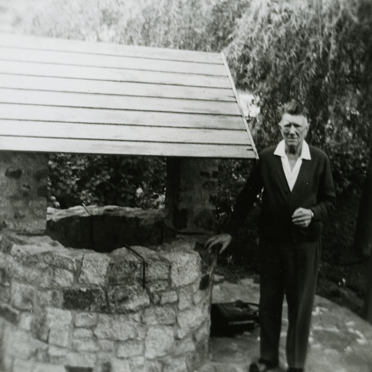 McCourt // County Louth :: Tommy McCourt posing beside a well