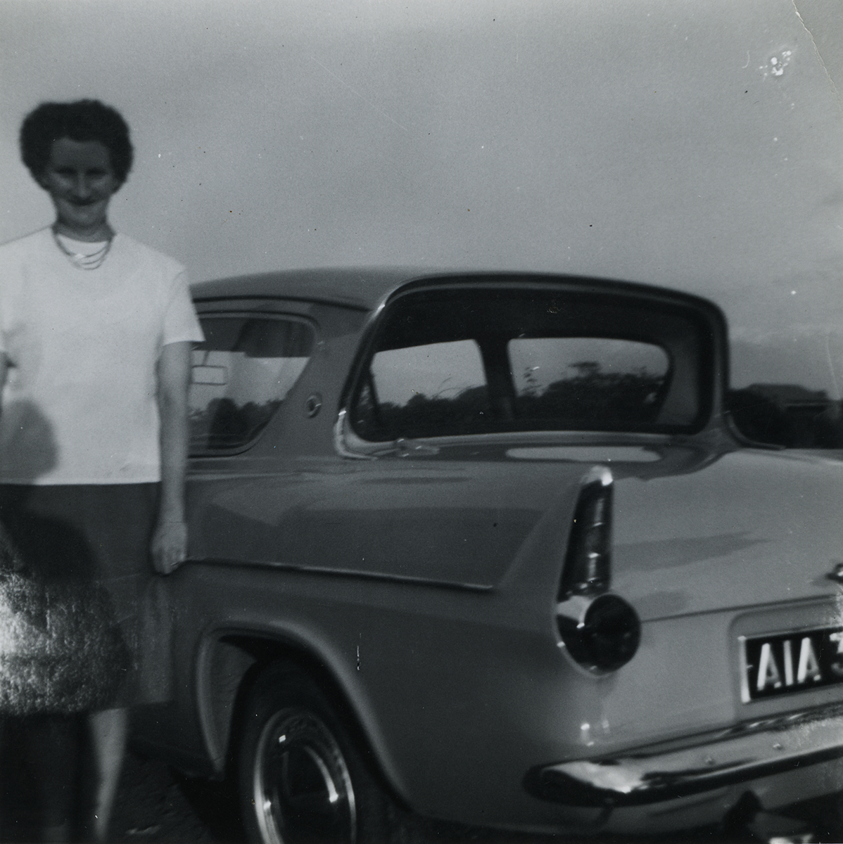 McKeown // County Antrim :: Margaret McKeown and the new Ford Anglia