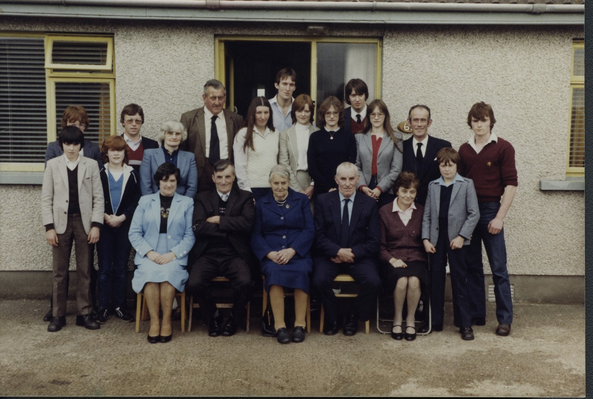McKeown // County Antrim :: McKeown family photographed at the family home at the funeral of Margaret McKeown