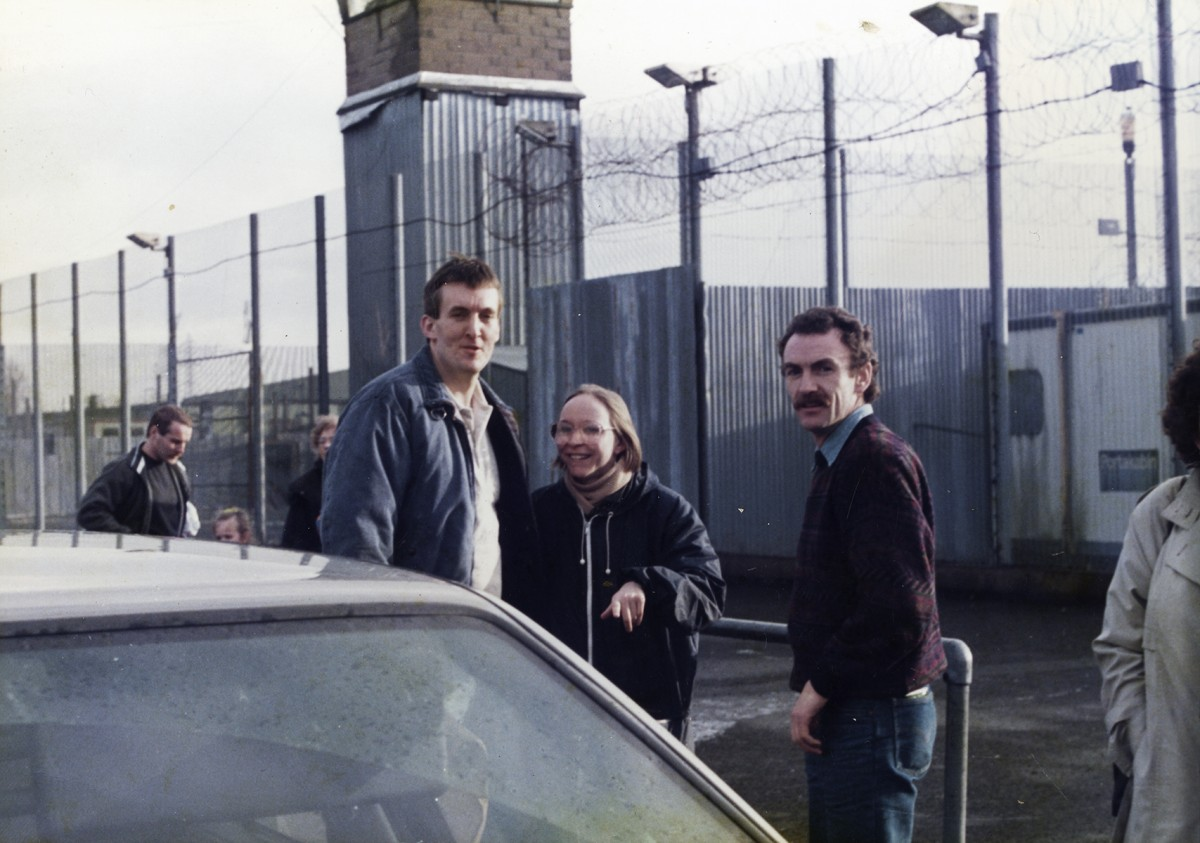 McKeown // County Antrim :: Christmas parole - Laurence McKeown with partner and fellow republican prisoner