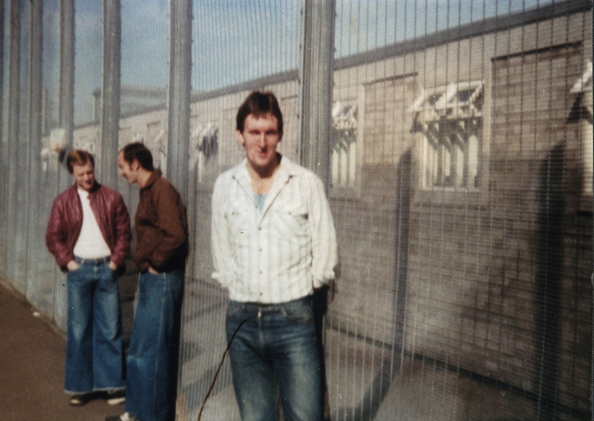 McKeown // County Antrim :: Laurence McKeown in H-Block exercise yard - taken with smuggled camera
