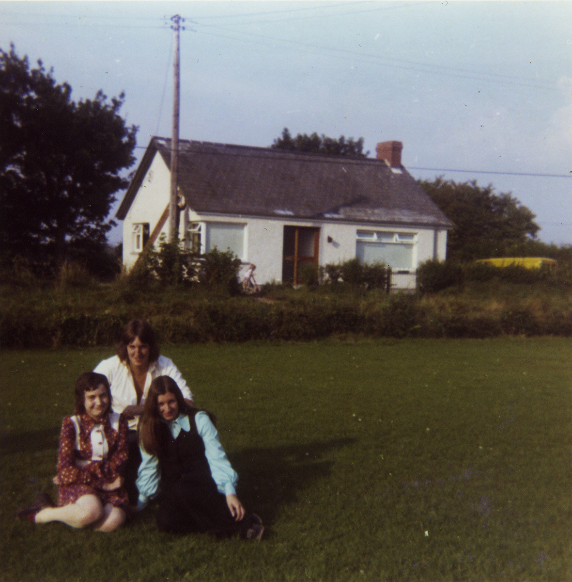 McKeown // County Antrim :: Laurence McKeown, family friend Margaret Harkin and sister Mary in front garden