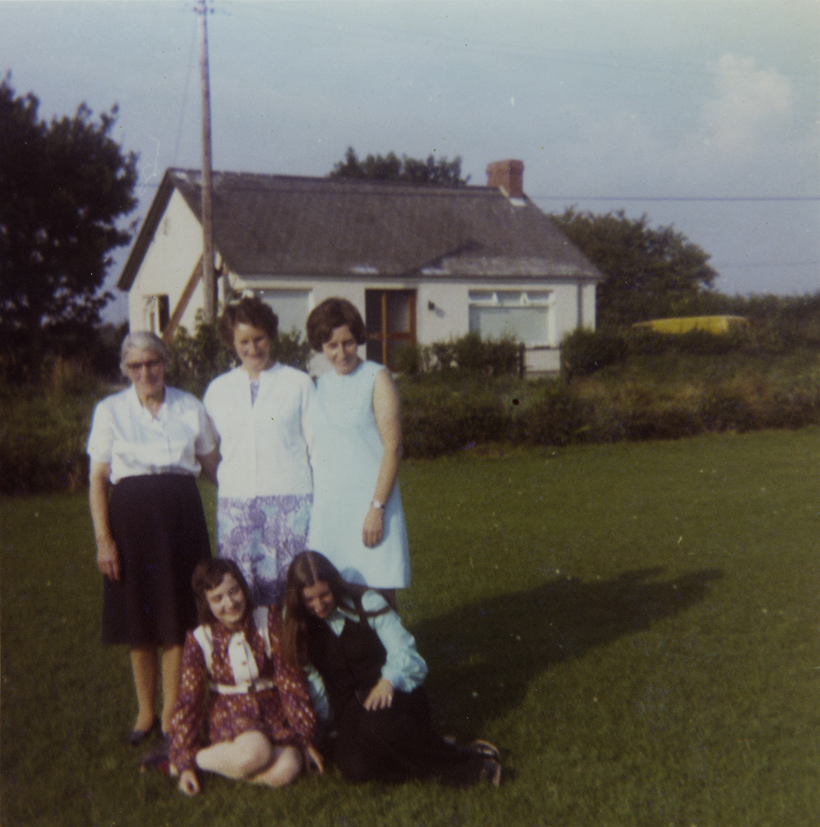 McKeown // County Antrim :: McKeown family in front of their house