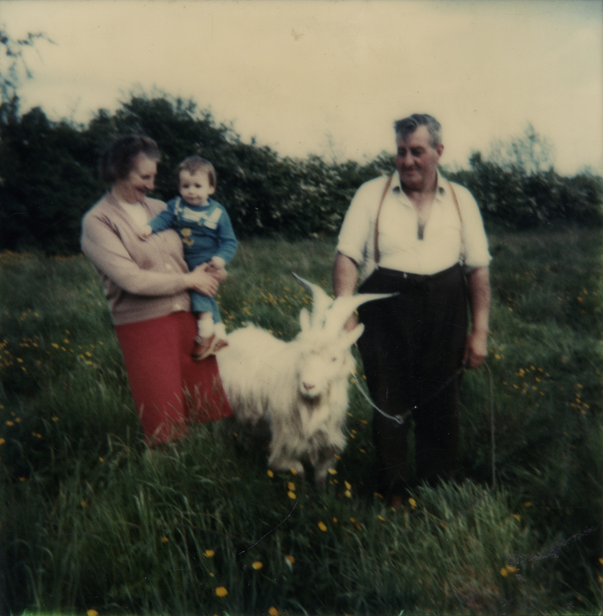 McKeown // County Antrim :: Margaret and George McKeown with their goat in their front garden