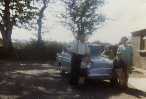 McKeown family with their new car at home in Randalstown, County Antrim