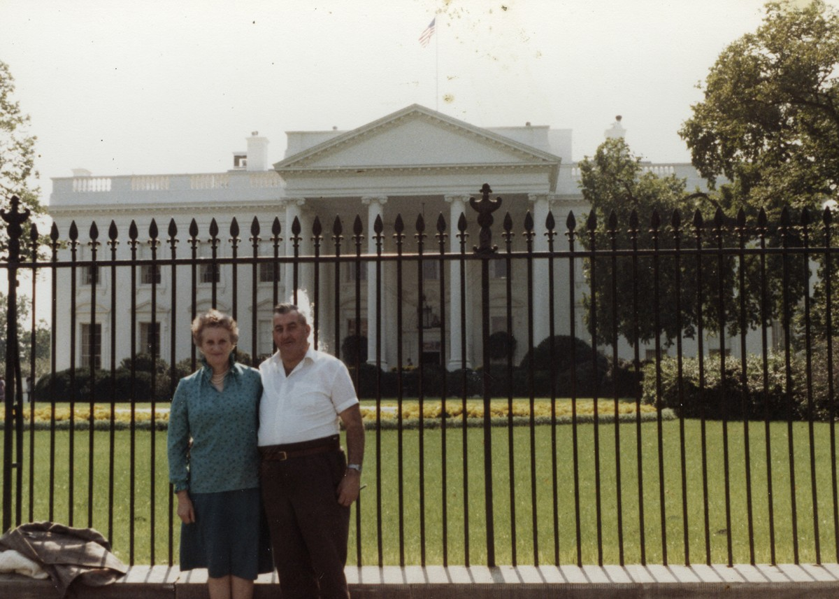 McKeown // County Antrim :: Margaret and George McKeown outside The White House, Washington, U.S. in 1982