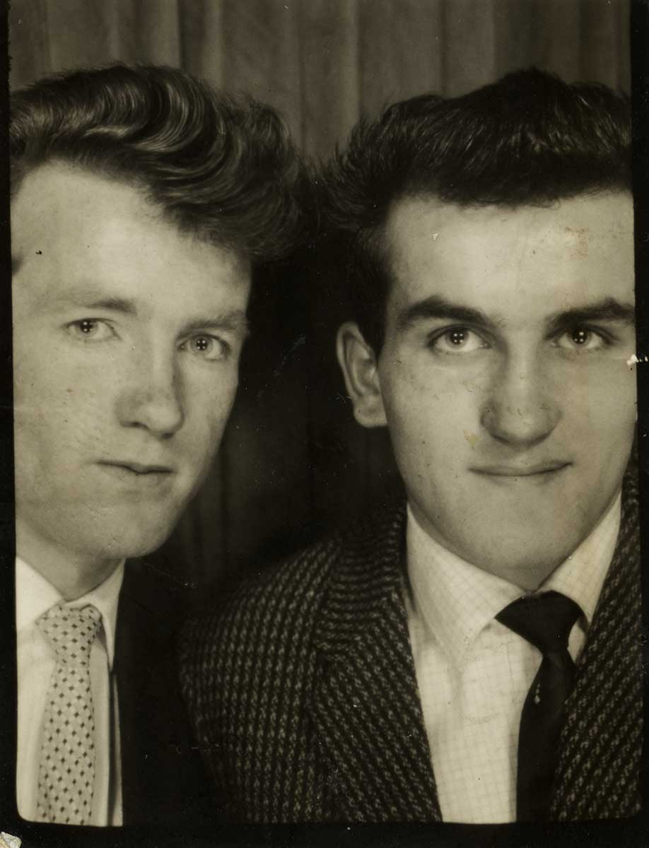 Shanahan // County Dublin :: Two young men in photobooth