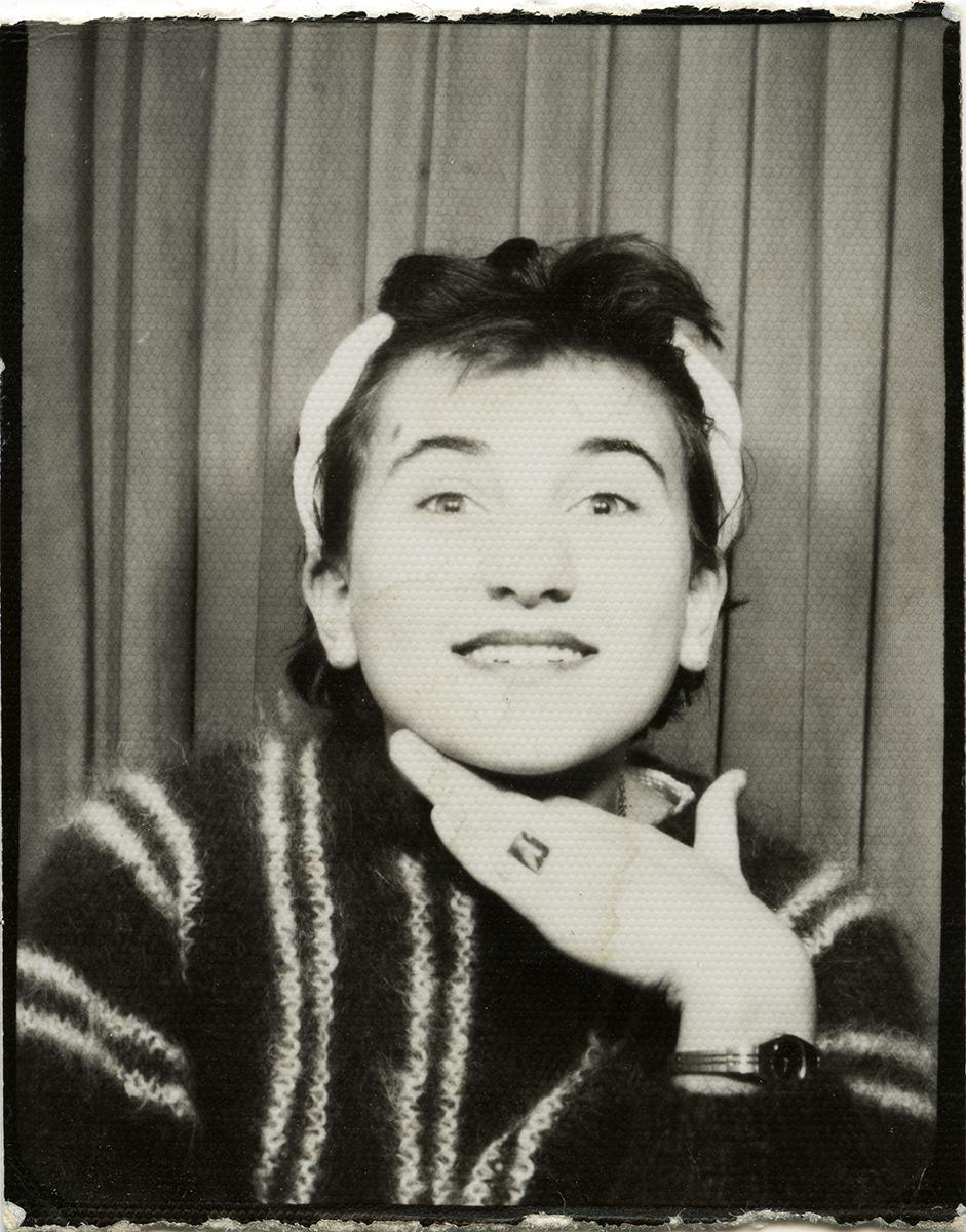 Shanahan // County Dublin :: Young woman in a photobooth
