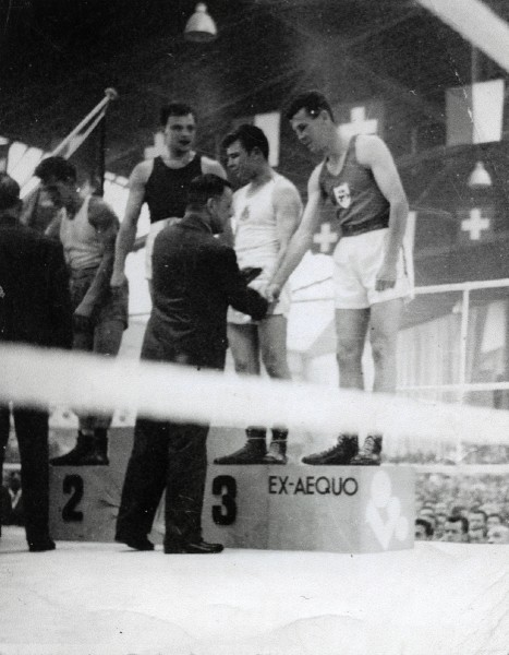 Group portrait at Boxing Championships