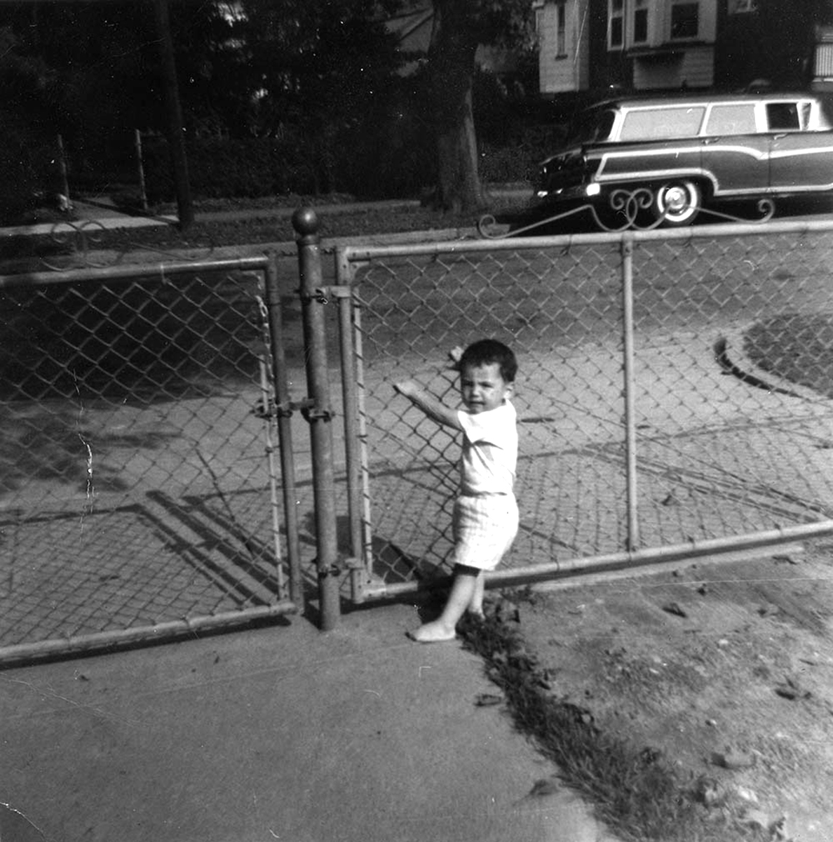 Conlon // County Monaghan :: Seán Conlon as a baby at the gates of Conlon family home in Landsdowne, Pennsylvania,