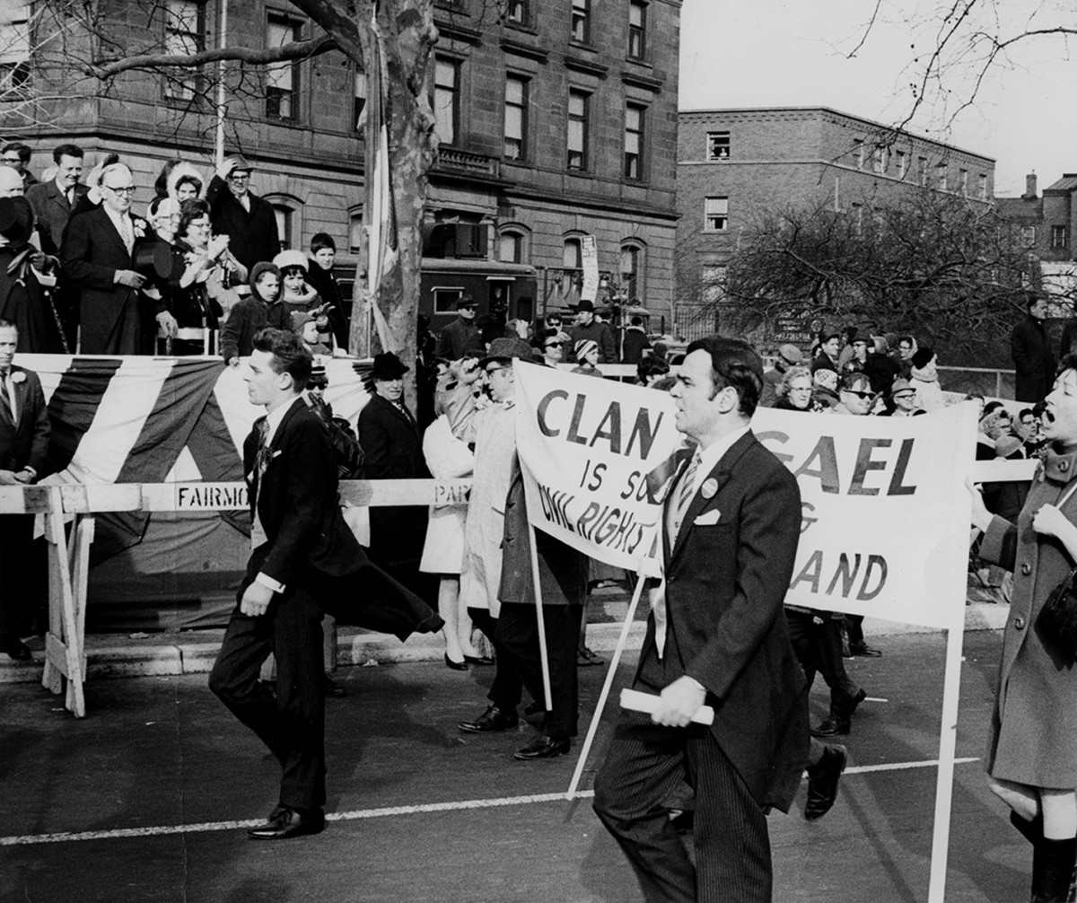 Conlon // County Monaghan :: Clan na Gael marching in the St. Patrick's Day Parade in Philadelphia, USA, 1960's