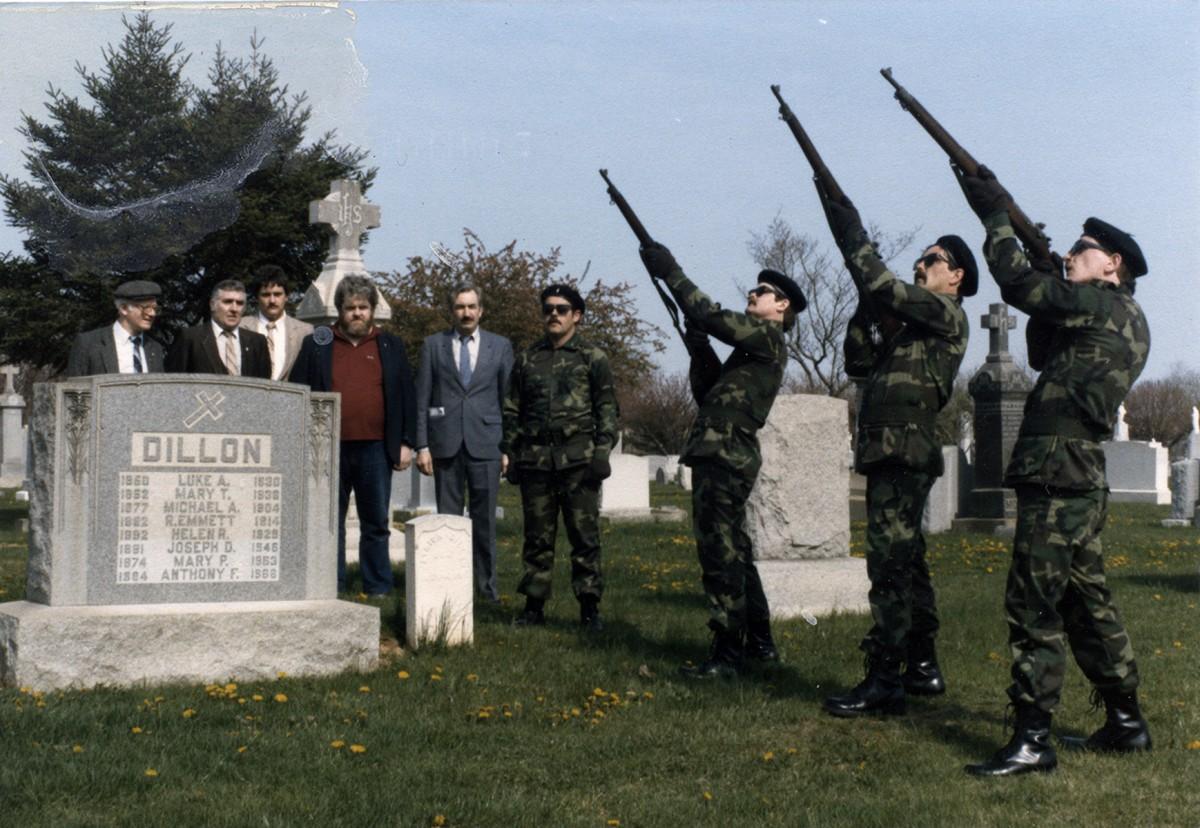 Conlon // Philadelphia & County Monaghan :: Memorial Service for Luke Dillon, Philadelphia, 1980s