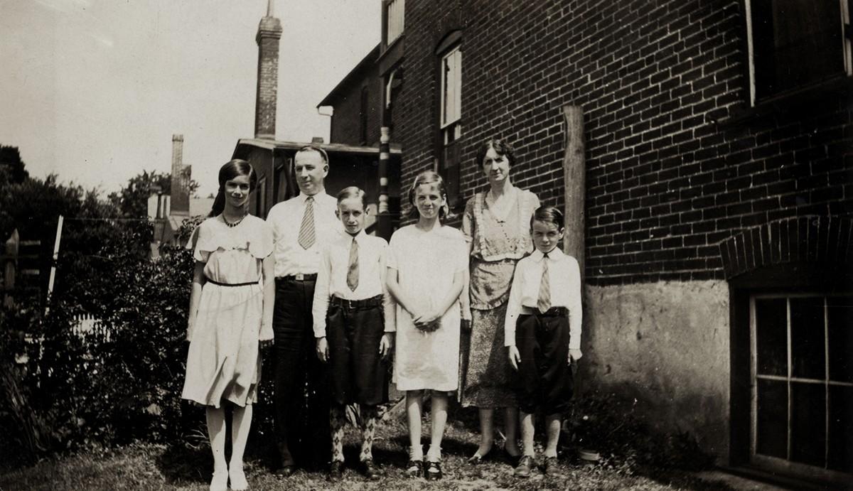 Conlon // Philadelphia & County Monaghan :: Dolan family in back garden, 1944