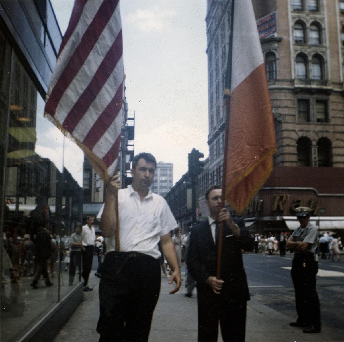 Conlon // Philadelphia & County Monaghan :: Vincent Conlon taking part in the St Patricks Day Parade, Philadelphia, 1960s