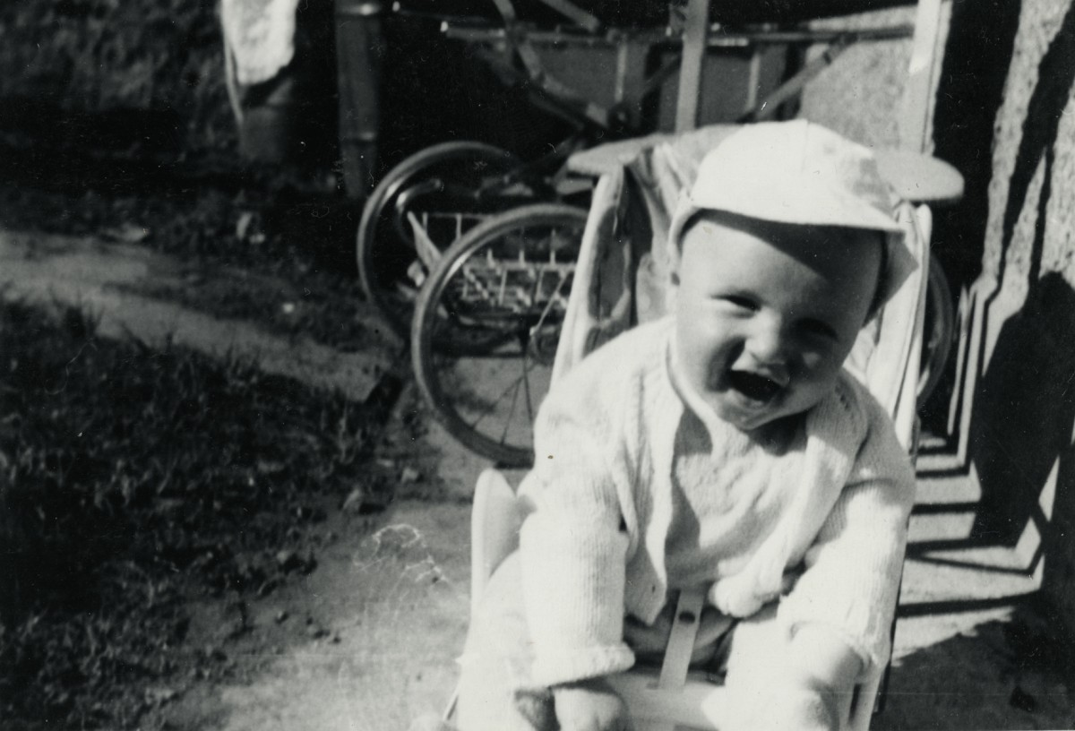 Campbell  //  County Dublin :: Baby in Backgarden, 1960's.