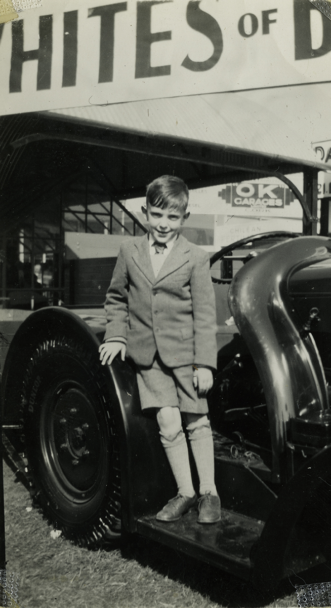 Gilroy  //  County Louth  :: Boy at a car, 1940's