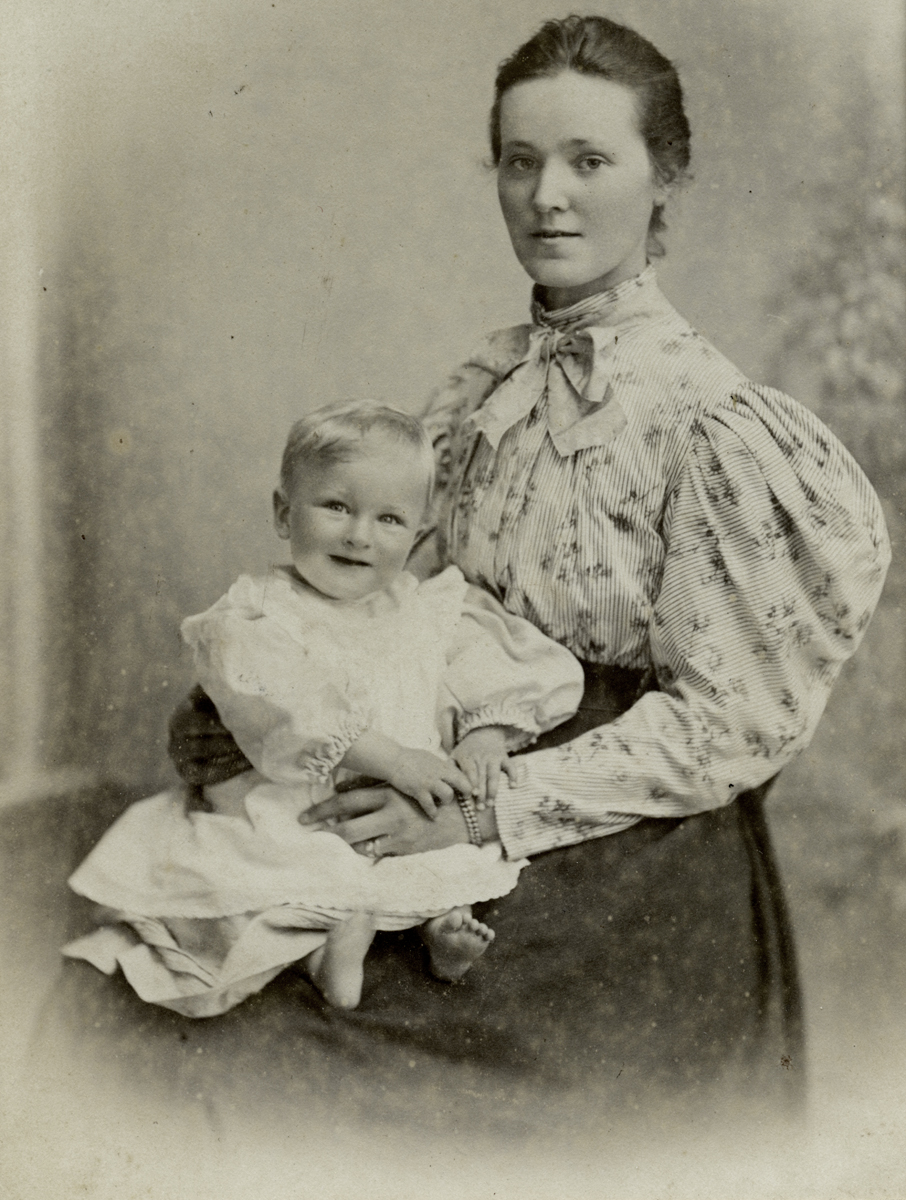 McKay  //  County Antrim :: Agnes Parry with her son Frank