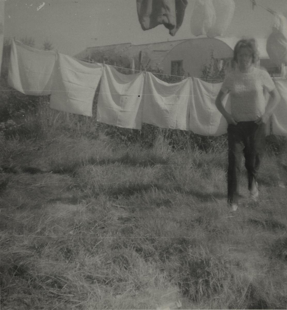 Morgan  //  County Dublin :: Woman at a washing line