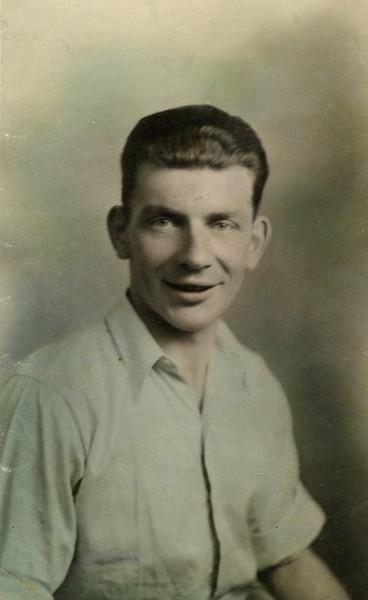 Hand-tinted photograph of Joe Masterson