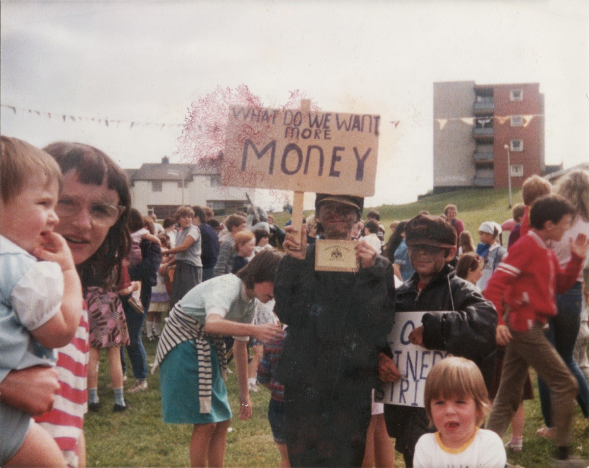 Crowne // County Tyrone :: Children at O'Kane Park, Omagh, during the UK miners' Strike of '84