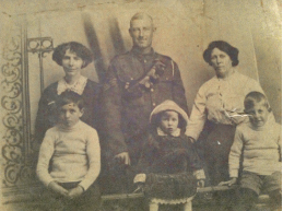 McCourt // County Louth :: Albert Rowe N.C.O 122nd Battery, 52 Brigade, Royal Field Artillery pictured with his family