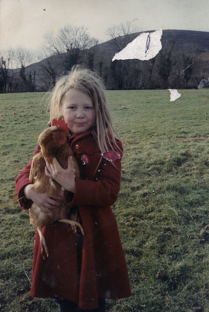 Wallis // County Clare :: Little girl with a chicken, 1995