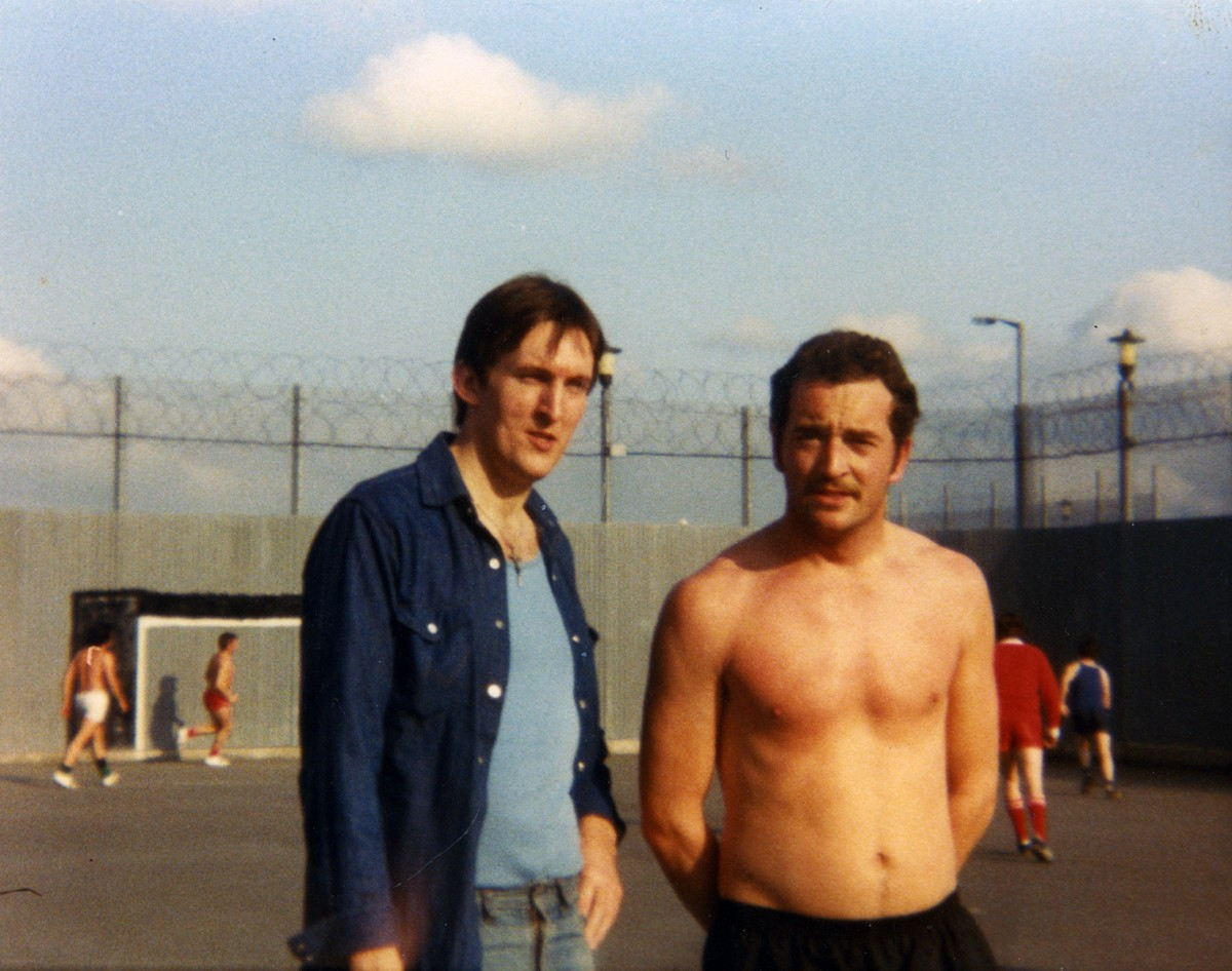 McKeown // County Antrim :: Laurence McKeown and Dick Coleman in H-Block exercise yard