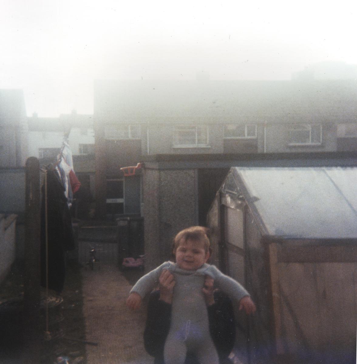 Crowne // County Tyrone :: Baby in back garden, County Tyrone, 1985