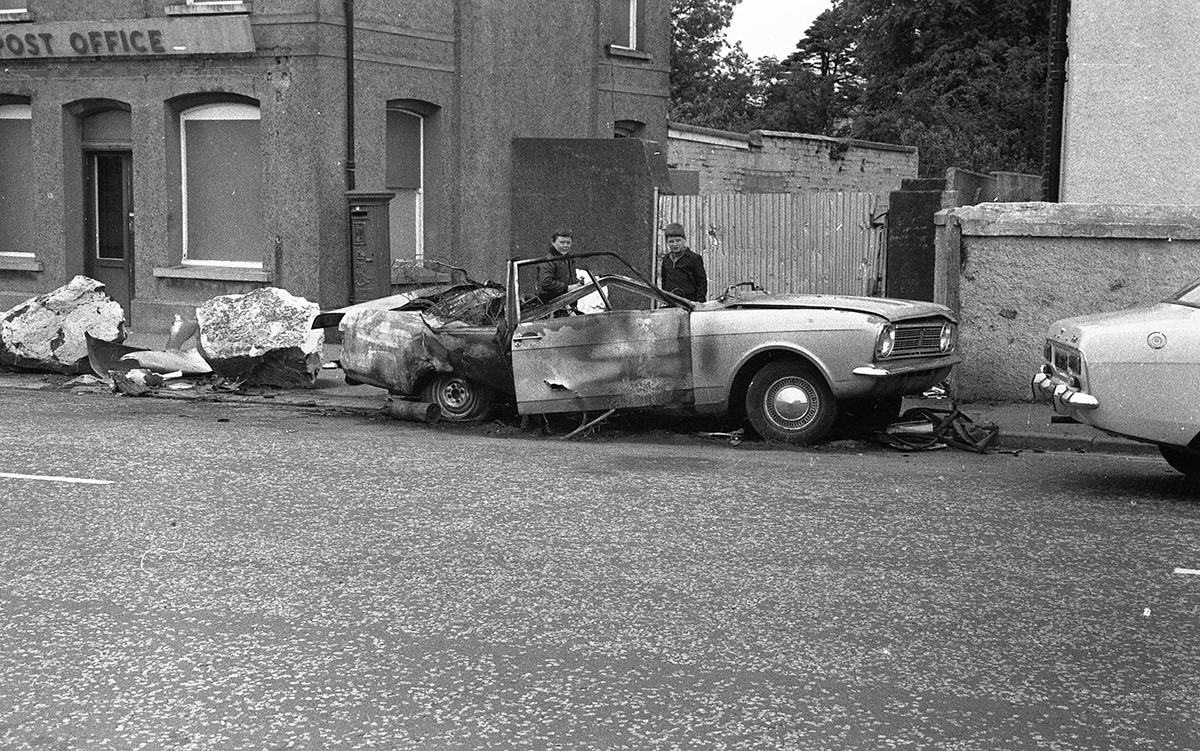 Peter McKee Archive // County Down, Antrim, Tyrone & L/Derry :: Car bombed, 1970s