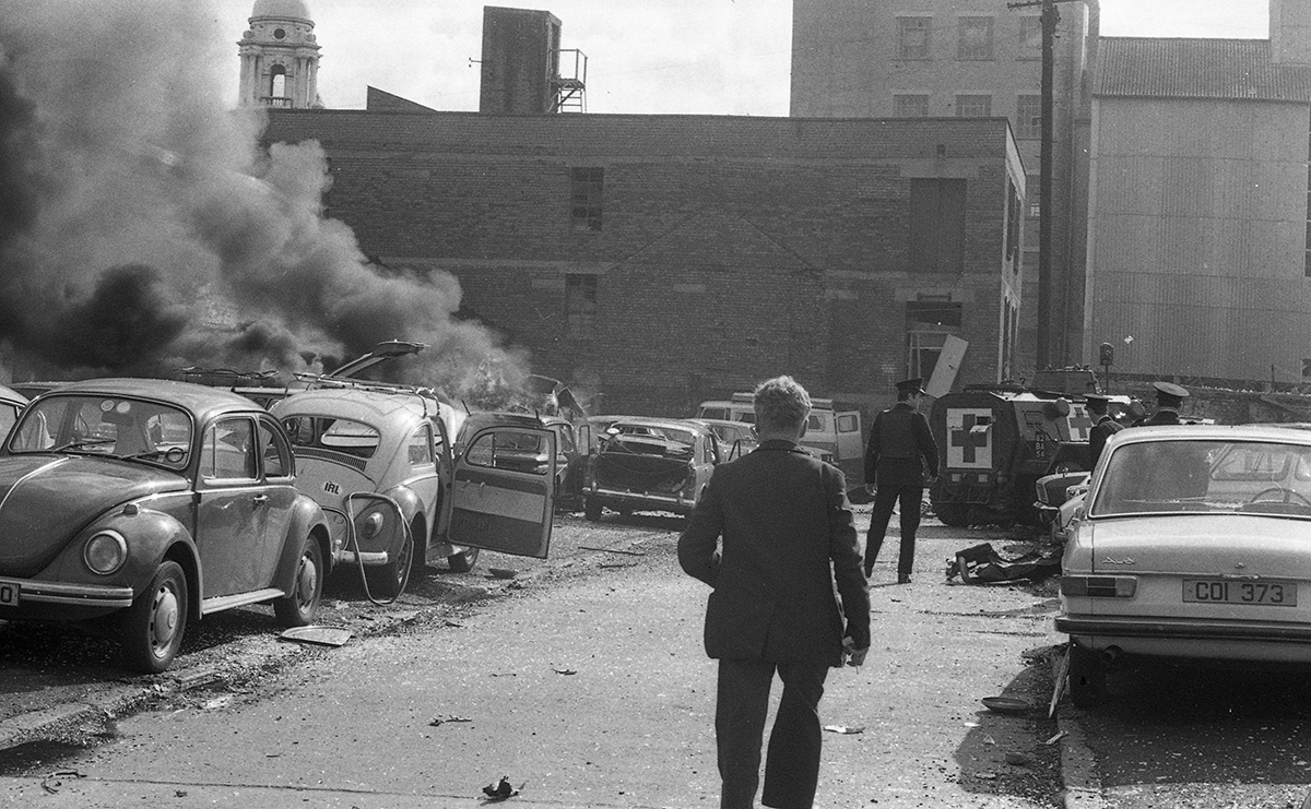 Peter McKee Archive // County Down, Antrim, Tyrone & L/Derry :: Car bomb, 1970s