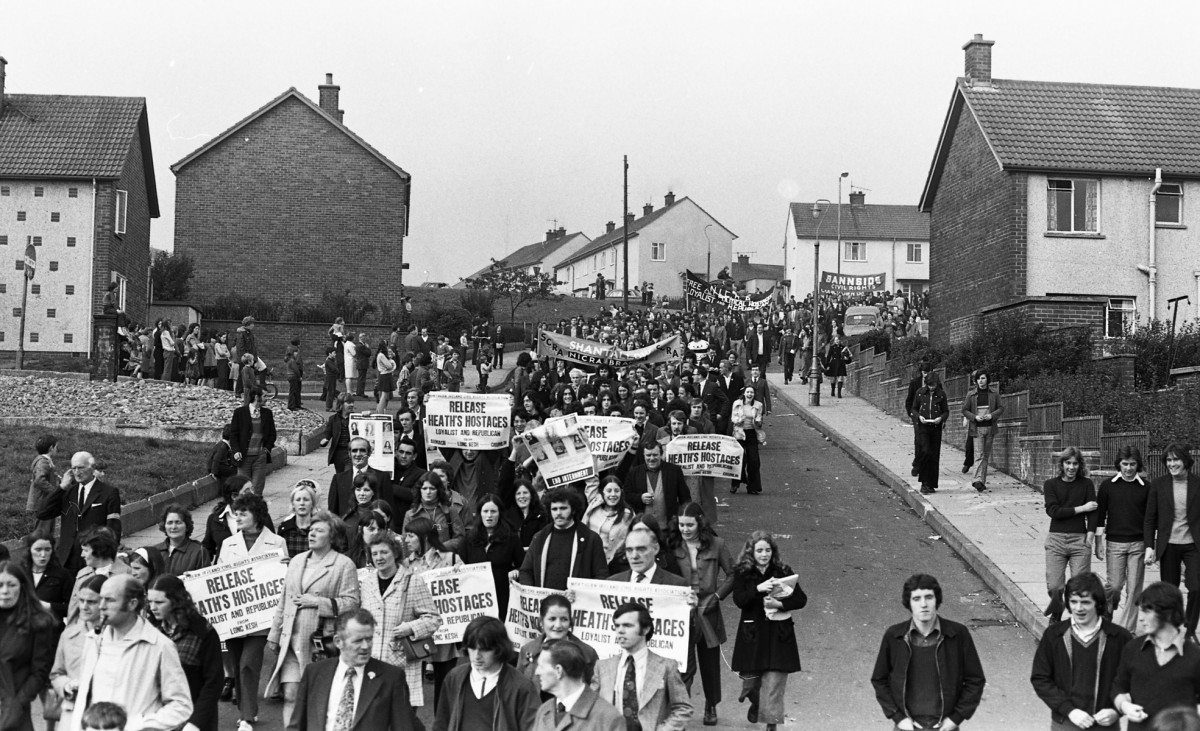Peter McKee Archive // County Down, Antrim, Tyrone & L/Derry :: Anti-internment march 1973