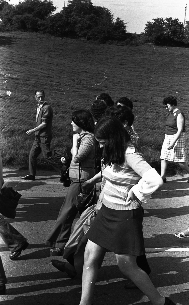 Peter McKee Archive // County Down, Antrim, Tyrone & L/Derry :: Bernadette Devlin taking part in Civil RIghts march 1973