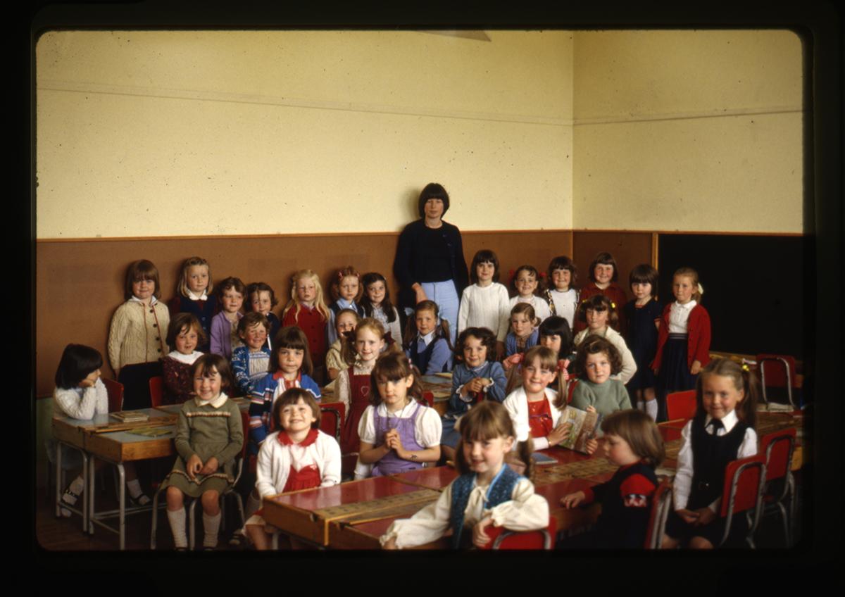 Declan Gilroy Archive // County Sligo :: School classroom, 1970s
